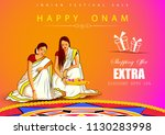 vector illustration of happy... | Shutterstock .eps vector #1130283998