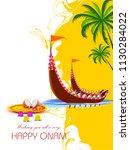 vector illustration of happy... | Shutterstock .eps vector #1130284022