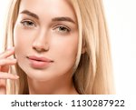 beautiful woman face portrait... | Shutterstock . vector #1130287922