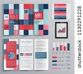 business brochure template... | Shutterstock .eps vector #1130291228