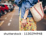 street style fashion details.... | Shutterstock . vector #1130294948