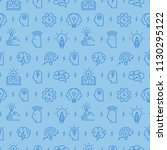 brainstorm and idea icons... | Shutterstock .eps vector #1130295122
