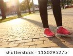 evening run. walking. healthy... | Shutterstock . vector #1130295275