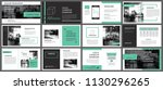 green presentation templates... | Shutterstock .eps vector #1130296265