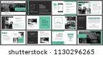 green presentation templates... | Shutterstock .eps vector #1130296265