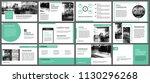 green presentation templates... | Shutterstock .eps vector #1130296268