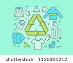 recycling of clothes. secondary ... | Shutterstock .eps vector #1130301212