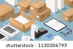 vector isometric illustration... | Shutterstock .eps vector #1130306795