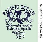 pacific ocean | Shutterstock .eps vector #113030875