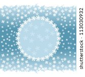 winter pattern with snowflakes ... | Shutterstock . vector #113030932