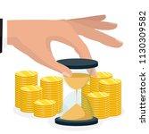 time is money concept.... | Shutterstock .eps vector #1130309582