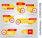 set of sale banner collection ... | Shutterstock .eps vector #1130314538