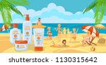 sunscreen for whole family....   Shutterstock .eps vector #1130315642