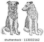 two dogs | Shutterstock . vector #113032162
