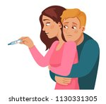 infertility. sad young family... | Shutterstock .eps vector #1130331305