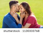 couple in love have fun in the... | Shutterstock . vector #1130333768
