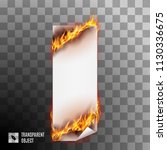 banner with spurts of flame.... | Shutterstock .eps vector #1130336675