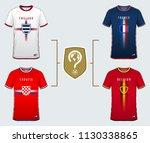 soccer jersey or football kit... | Shutterstock .eps vector #1130338865