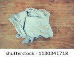 old dirty torn rag on a dirty... | Shutterstock . vector #1130341718