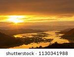Mekong River Sunrise Golden...