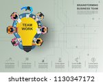 business meeting and... | Shutterstock .eps vector #1130347172