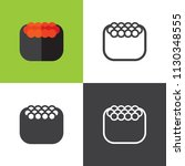 salmon roe sushi icons | Shutterstock .eps vector #1130348555