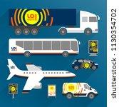 blue transport advertising...   Shutterstock .eps vector #1130354702