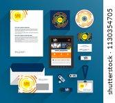 blue corporate identity...   Shutterstock .eps vector #1130354705