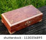 box of mahogany wawona handmade ... | Shutterstock . vector #1130356895