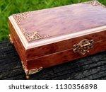 box of mahogany wawona handmade ... | Shutterstock . vector #1130356898