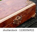 box of mahogany wawona handmade ... | Shutterstock . vector #1130356922