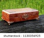 box of mahogany wawona handmade ... | Shutterstock . vector #1130356925