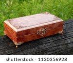 box of mahogany wawona handmade ... | Shutterstock . vector #1130356928