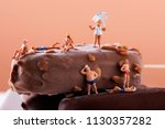 closeup of some miniature... | Shutterstock . vector #1130357282