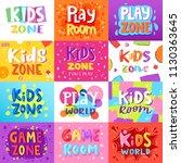 game room vector kids playroom... | Shutterstock .eps vector #1130363645
