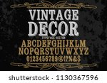 classic vintage decorative font ... | Shutterstock .eps vector #1130367596