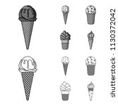 ice cream on a stick  in a... | Shutterstock .eps vector #1130372042