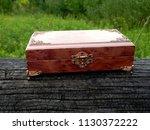 box of mahogany wawona handmade ... | Shutterstock . vector #1130372222