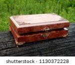 box of mahogany wawona handmade ... | Shutterstock . vector #1130372228