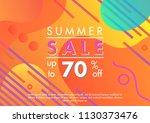summer sale banner.unique... | Shutterstock .eps vector #1130373476