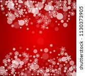 christmas frame with falling... | Shutterstock .eps vector #1130373905