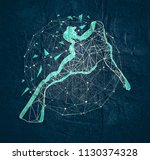 cutout silhouette of diver...   Shutterstock . vector #1130374328
