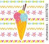 cute cartoon children vector... | Shutterstock .eps vector #1130378732