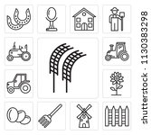 set of 13 simple editable icons ... | Shutterstock .eps vector #1130383298