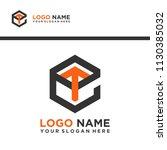 et logo letter initial ...   Shutterstock .eps vector #1130385032