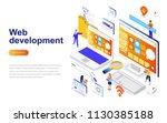 web development modern flat... | Shutterstock .eps vector #1130385188