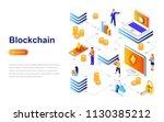blockchain modern flat design... | Shutterstock .eps vector #1130385212