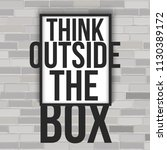 think outside the box concept... | Shutterstock .eps vector #1130389172