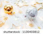 christmas and new year holiday... | Shutterstock . vector #1130403812