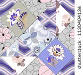 abstract seamless patchwork... | Shutterstock .eps vector #1130404136